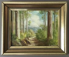 Original Oil On Board Landscape Painting Forest Path 'Another Track' By R Kraus