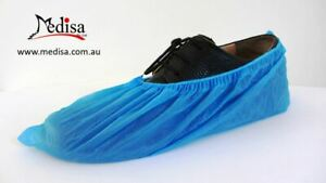 Disposable Waterproof Plastic Shoe Covers Overshoes Pkt of 100 PC