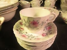 Burgess & Leigh Burleigh Ware Ironstone Cup & Saucer Pink Roses Pattern /#BUL 2