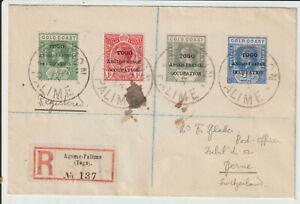 """TOGO - 1918 GV CENSORED REGISTERED COVER """"AGOME-PALIME"""""""