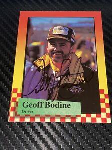 Geoff Bodine autographed 1989 MAXX NASCAR WINSTON CUP card LEVI GARRETT VINTAGE