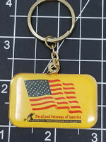 Vintage Paralyzed Veterans of America Key Chain Rolling Wheelchair Keychain