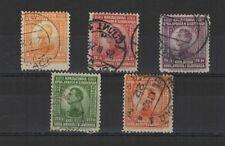 Royaume des Serbes Croates 1923 Alexandre 1er série de 5 timbres oblitérés/T2074