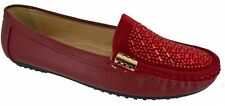 WOMENS LADIES LOAFERS FLAT CASUAL WORK PUMPS DIAMANTE COMFORT SHOES SIZE 3-8 NEW