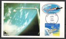 United States 1982 Jun 29 space Maxi Card Shuttle Columbia STS-4 spacewalking