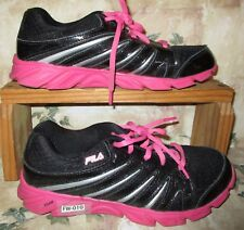 FILA Women's 7.5 Girls 6.5 Eur 39 Shoes Hot Pink & Black Sneakers