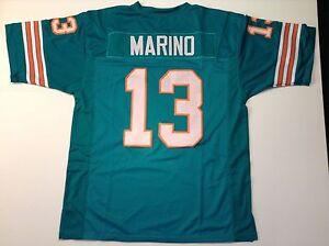 UNSIGNED CUSTOM Sewn Stitched Dan Marino Teal Jersey - M, L, XL, 2XL, 3XL