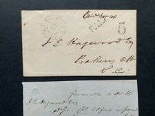1861 GREENVILLE SC PAID 5 CONFEDERATE STAMPLESS COVER + LETTER ! DUNCAN/HAGOOD !