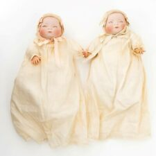 Twins 2 Signed Grace S. Putnam Bye-Lo Baby Dolls Bisque Heads 1920s Sleep Eyes