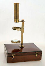 Antique botanist's Cary-type brass microscope kit c. 1820's