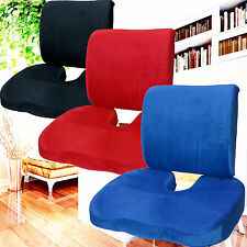 Memory Foam Coccyx Orthopedic Seat and Back Cushion Lumbar Support Pain Relief