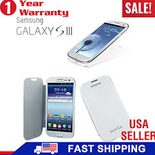 US Seller Brushed Flip Case Battery Skins Cover For Samsung Galaxy SIII i9300 S3