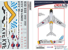 Decals F-86 Sabre ROKAF - Black Eagles Aerobatic Team 'Yellow Nose' 1/48 Scale