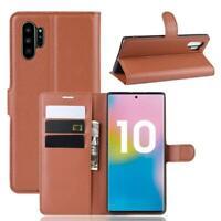 Samsung Galaxy Note10+ (5G) Handy Hülle Flip Cover Schutz Tasche Etui Case Braun