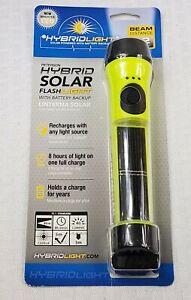 HybridLight Solar Powered LED w/ Battery Backup Flashlight- Waterproof floats