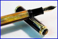 PELIKAN 400 Füller F - BBB flexi 585 FEDER Schildpatt gestreift / fountain pen