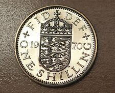 1970 Great Britain 1 Shilling English Crest Proof