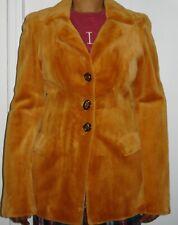 Revillon,Paris Whiskey Sheared Mink Fur Jacket Size 2-4 EXCELLENT COND Free Ship