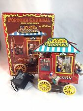 NEW! ENESCO 1992 POPCORN CARNIVAL MUSIC BOX ACTION MUSICAL POP GOES THE WEASEL