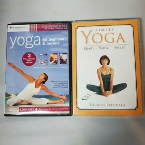 Lot Of Two Yoga DVDs Yoga For Beginners / Simply Yoga Not Sealed But Never Used