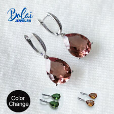 Color change created diaspore earring 925 sterling silver fine jewelry for women