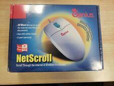 Genius Netscroll 3D Wheel Serial Mouse (Db9)-New Sealed