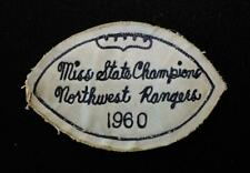 """VINTAGE 1960 MISSISSIPPI STATE FOOTBALL CHAMPS NAVY AND WHITE PATCH 4 1/2"""" X 3"""""""