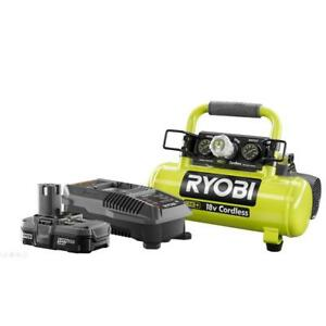 RYOBI Air Compressor 18Volt ONE+ Lithium Ion Cordless 1 Gal. Lithium-Ion Upgrade