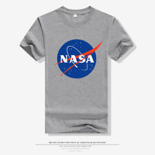 NASA retro logo vintage look space Short Sleeve  80's - Mens Cotton T-Shirt