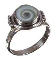 925 Solid Sterling Silver Ring Natural Shiva Eye's US Size 5 6 7 7.5 7.75 R1180