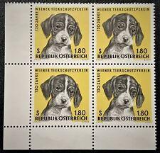 AUSTRIA 1966 Sc# 763 VIENNA HUMANE SOCIETY Block of 4 Mint NH OG XF (D-188)