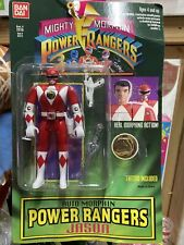 "NEW MMPR 5"" Red Ranger flip head (MOC) Mighty Morphin Power Rangers 1994 BanDai"