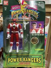 "NEW MMPR 5"" Red Ranger flip head (MOC) Mighty Morphin Power Rangers 1994 BanDai"