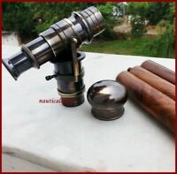 Brass Antique Telescope Vintage Handmade Walking Cane Stick Nautical Men's Gift