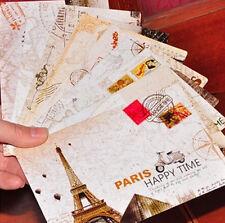 Vintage Postcard 9 PCS Big Ben London Eye Creative Triumphal Arch Paris Tower