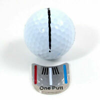 "MAGNETIC HAT CLIP with ""One Putt"" GOLF BALL MARKER New J0M7"