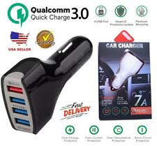 4-Port USB Fast Charging Car Charger Adapter Quick Charger For Cell Phone iPhone