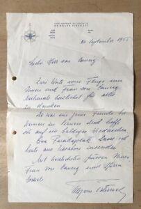 1952 Otto von Habsburg - Signierter handschriftlicher Brief an Franz von Caucig
