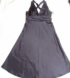 FORCAST DRESS SIZE L LOOKS UNWORN VINTAGE BLACK SATIN MARILYN MONROE