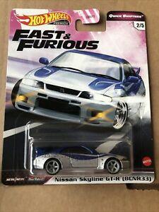 HOT WHEELS PREMIUM DIECAST -Fast & Furious- Nissan Skyline GT-R (BCNR33) -2/5