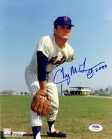 Tug McGraw autographed signed 8x10 photo MLB New York Mets PSA COA