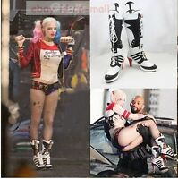 Movie Batman Suicide Squad Harley Quinn Cosplay Boots Women Heel shoes XMAS gift