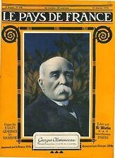 Portrait  Georges Clemenceau Président du Conseil Paris France 1918 WWI