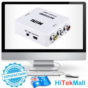 Composite AV CVBS 3RCA RCA to HDMI output Video Cable Converter 1080p Upscaling