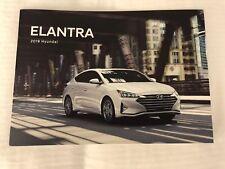 2019 HYUNDAI ELANTRA 14-page Original Sales Brochure
