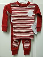 NWT Burt's Bees Baby Kid's Striped Holiday Candy Cane Pajama Set Organic