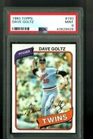 1980 TOPPS #193 DAVE GOLTZ PSA 9 GRADED BASEBALL CARD MINT FREE SHIPPING