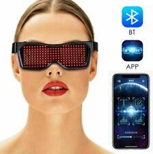 DJ Bluetooth LED  Glasses DIY Light Up Glowing APP Control Club Party (White)