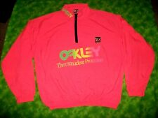 VTG 1980's Oakley Sunglasses Surf Style Nylon Windbreaker Jacket NEON PINK