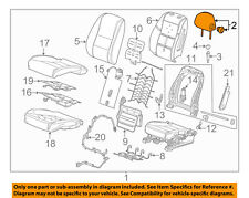 Chevrolet GM OEM 15-18 Impala Passenger Seat-Headrest Head Rest 84272699